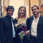 Anna Hersey, Luis Fernandez, and Matti Hirvonen after a performance in Stockholm.